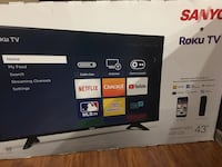 "Sanyo 43"" smart new tv in box 90days labour and part warranty  Toronto, M1W"