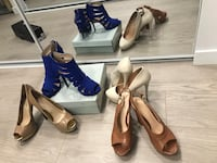 4 pairs of heels- set : Jessica simpson & Guess Coquitlam, V3K 0A9