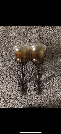 two brown metal candle holders Odessa, 79765