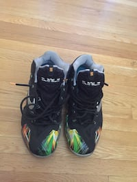 pair of black-and-green Nike Foamposite Toronto, M2R 2M8
