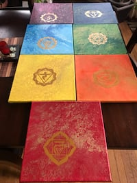 Chakra acrylic paintings set Ashburn, 20147