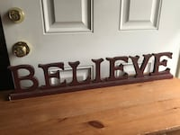 """Christmas Wood """"Believe"""" Sign/Decor Hagerstown, 21742"""