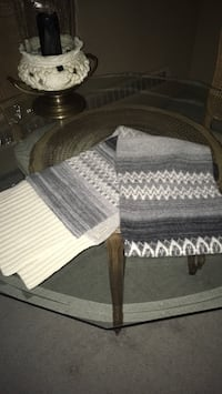 Burberry grey Fair Isle wool scarf never worn size 7 Feet long 1 feet wide Oakville, L6K 1Y8