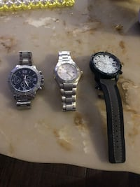two round silver-colored analog watches London, N6K 1L4
