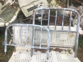 Vintage Metal Twin Bed Need Prep/Paint No Bed Rails You Finish,You Win