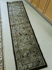 brown and white floral area rug 331 mi