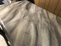 Solid italian marble dining table and 3 chairs