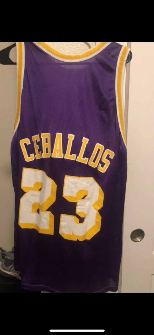 446aa7aec Used Cedric Cebellos Lakers Jersey champion! for sale in Salinas - letgo