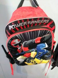 red and multicolored Power Rangers backpack 47 km