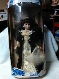 Orient Express doll in white and black dress