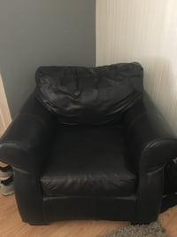 Black leather sofa chair Tulare, 93274