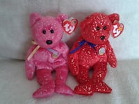 Ty Beanie Babies Decade Pink and Red Georgina