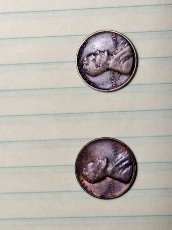 1936 wheat penny and 1955 wheat penny