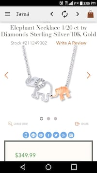 silver chain link necklace with elephant pendant Norfolk, 23509