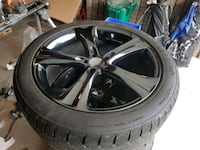 20 inch black chrome wheels and new tires Whitby, L1N 5T1