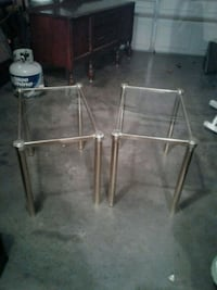 stainless steel framed glass top table Hagerstown