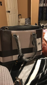 Black & gray purse and wallet