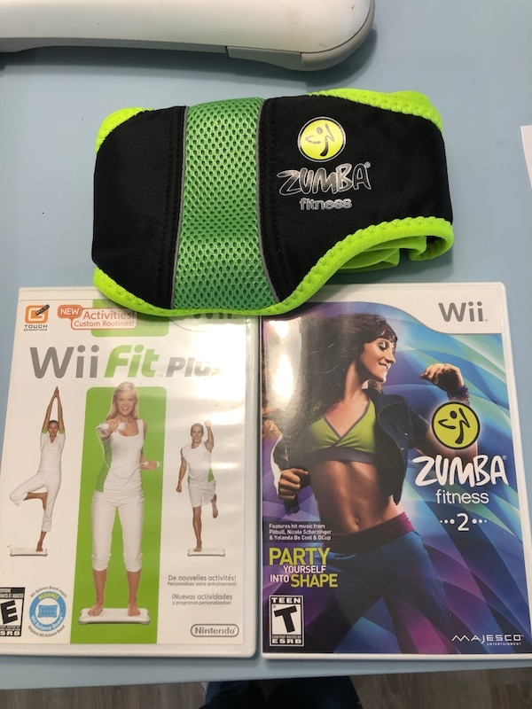 Wii balance boards, Wii fit plus, Zumba fitness 2 b7634087-bb9c-42ca-a619-e65cde88d193