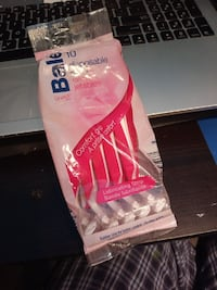 pink plastic pack
