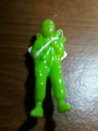 man green action figure with parachute!