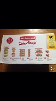 Brand New sealed box Rubbermaid TakeAlongs set of 40.