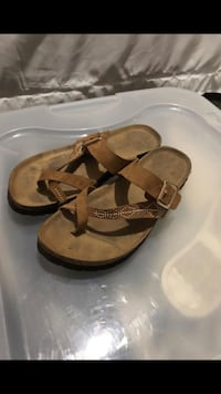 Pair of brown leather sandals. Size 7, good condition just a little dirty  Nashville, 37211