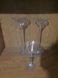 Large decorative glasses