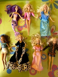 seven assorted Barbie dolls Laval, H7T 2H2