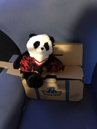 The Bear  factory panda doll with clothes
