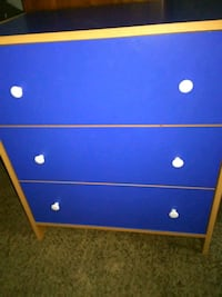 blue and brown wooden 3-drawer chest San Antonio, 78205