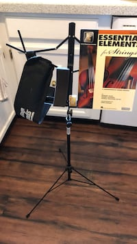 Adjustable music stand, string book, viola sponge, rosin and stand case  Saint Louis, 63146