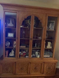 Brown wooden china cabinet with cabinet Ellicott City, 21042