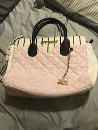 white leather 2-way bag Mission, 78572