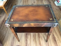 Antique Stickley leather top table Costa Mesa, 92627