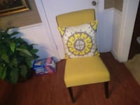 white and yellow floral chair Lithonia, 30038