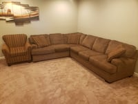 Brown Sectional Couch & Chair Halethorpe, 21227