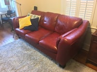 Red Leather Couch Armonk, 10504