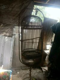 Large Bird parrot wrought iron cage