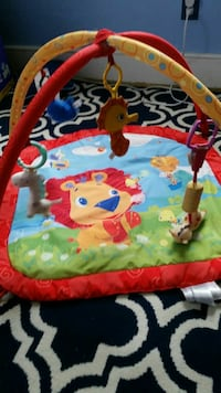 baby's blue and green activity gym