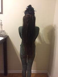 Micro ring hair extensions 100$ with human hair free +service  Toronto, M6G 3J1