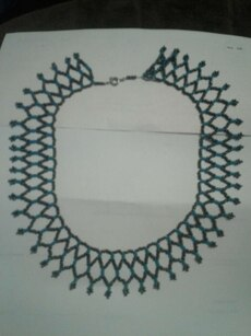black and green bib necklace