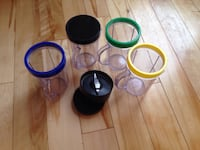 Magic Bullet cups and lids with one blade.  Extras for your bullet.   Cochrane, T4C