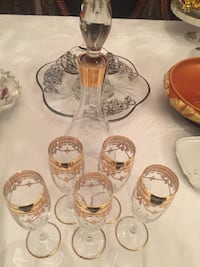 Antique French champagne decanter set