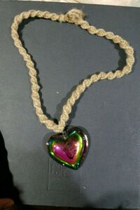 Handmade necklace with giant heart glass Omaha, 68147