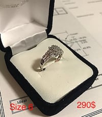 While gold and diamond ring with appraisal Toronto, M6B 1A7