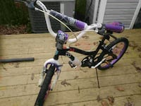 toddler's white and purple bicycle Waldorf, 20602