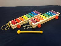2 Vintage Pull a Tune Fisher Price Xylophones