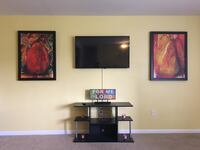 Tv Mounted , Wall Painted