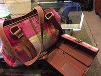 pink, red, and white leather shoulder bag and long wallet Avon Park, 33825