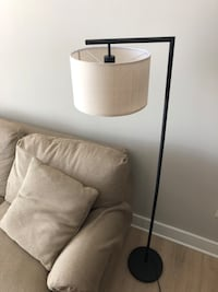 Modern Floor Lamp + Natural Shade